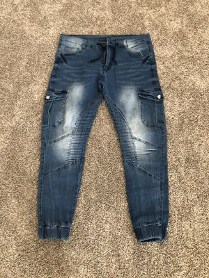 Brand New Denim Joggers Size Adult Small for Sale in Lockport, IL