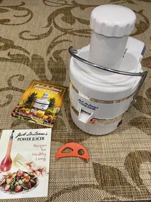 Jack LaLanne's Power Juicer - As Seen on TV! (White) for Sale in Seattle, WA