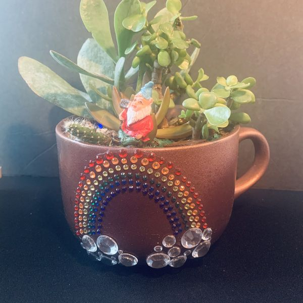"""Succulents In A Mug"" By Brenda's Unique Design"