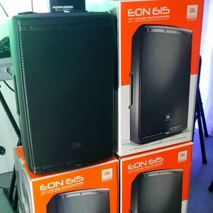 "JBL EON 615. I sell them brand new. 15"" woofer. 4 handles on the speaker. 1000 watts. The price is for each!! for Sale in Miami, FL"