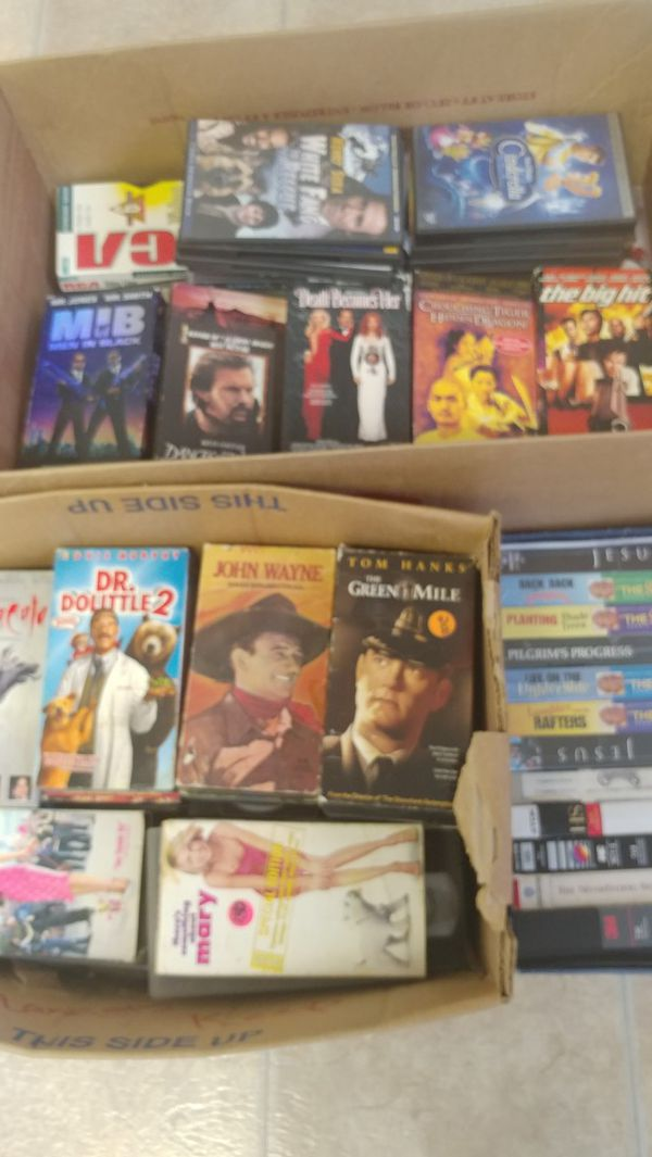 """Movie DVD""""s and VHS"""