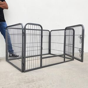 "New in box $75 Heavy Duty 49""x32""x28"" Pet Playpen Dog Crate Kennel Exercise Cage Fence, 4-Panels for Sale in South El Monte, CA"