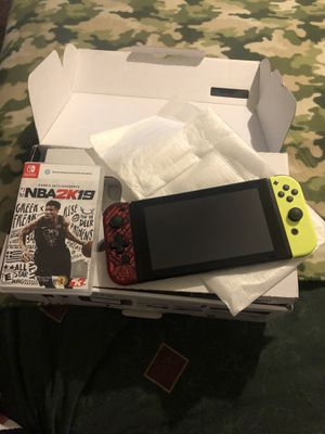 Nintendo switch with 2k19 and with 2k18 downloaded and resident evil downloaded with a few other games downloaded for Sale in Baltimore, MD