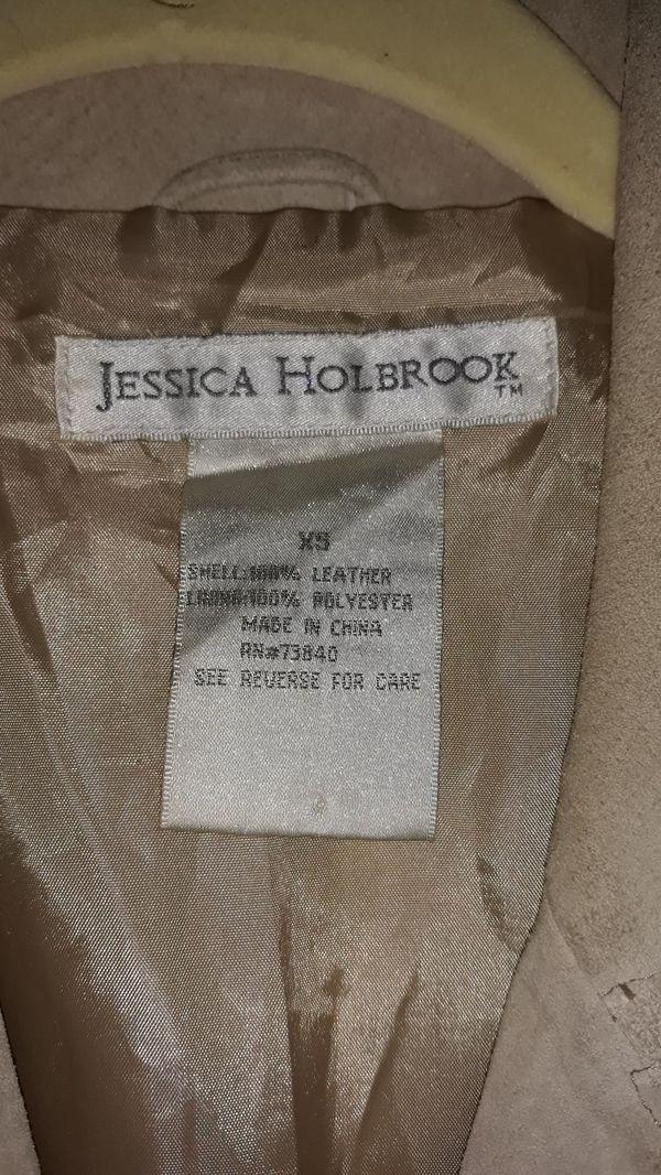 Jessica Holbrook Khaki Suede Coat