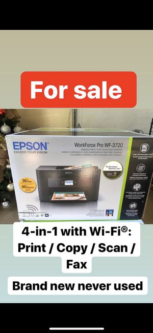 Epson Workforce pro WF-3720 for Sale in Bellflower, CA