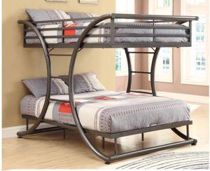 New Full/Full Bunk Bed, Gunmetal for Sale in Columbia, SC