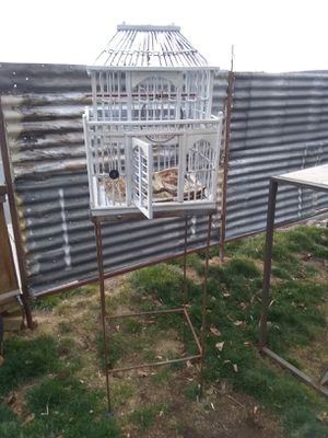 Bird cage and base for Sale in Prineville, OR