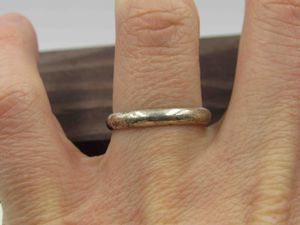 Size 8 Sterling Silver Rustic Band Ring Vintage Statement Engagement Wedding Promise Anniversary Bridal Cocktail Friendship for Sale in Everett, WA