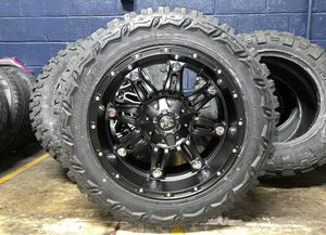 """20x10 Fuel Hostage 33"""" MT Black Wheels Rims Tires Package 5x5.5 Dodge Ram 1500 for Sale in Tampa, FL"""