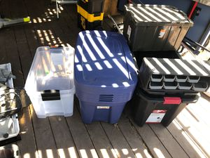 Storage boxes/ latches/ containers/totes for Sale in San Diego, CA