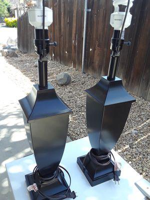 2 Black Lamps for Sale in Wildomar, CA