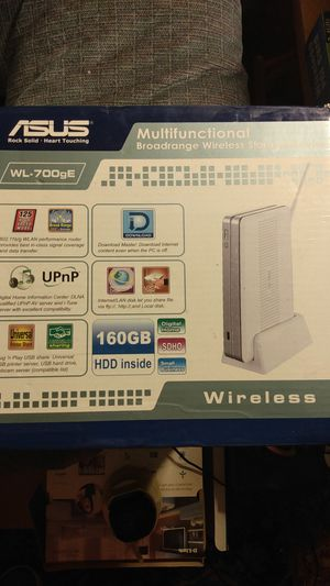 Asus multifunctional broad-range wireless storage router for Sale in Hayward, CA