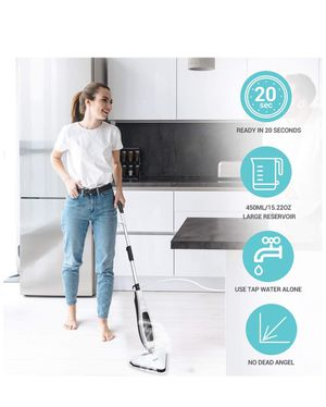 Brand new! Steam Mop, Floor Steamer, Tile Cleaner, Hard Wood Floor Cleaner with 15.21 oz Big Water Tank 22.96 Feet Power Cord and 2pcs Mop Pad, Ready for Sale in Miami, FL