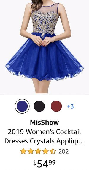 short blue and gold prom dress for Sale in Bakersfield, CA