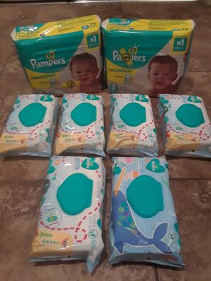 Pampers Swaddlers Size 2 Diapers & Baby Wipes for Sale in Mesa, AZ