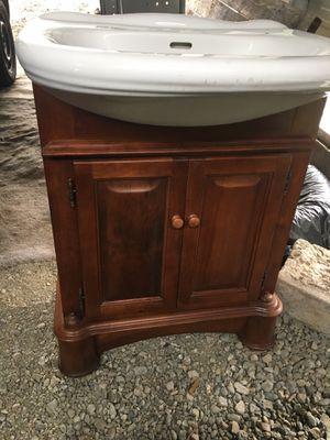 Bathroom vanity , solid wood for Sale in Tacoma, WA