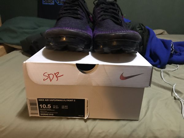 c8e707ac5ac Vapormax flyknit 2 midnight purple size 10.5 for Sale in Arlington ...