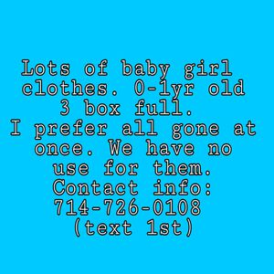 Baby Girl Clothes 0-1yr for Sale in Corona, CA