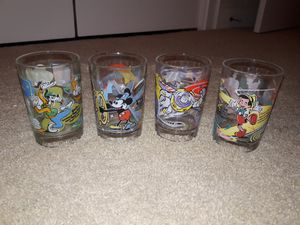 4 Disney collectible glass! for Sale in Virginia Beach, VA