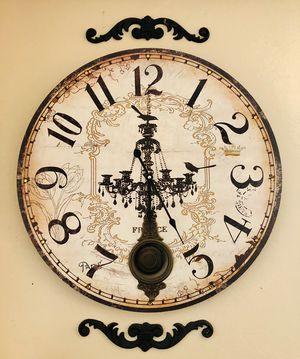 Paris Chandelier Wall Clock for Sale in Altadena, CA