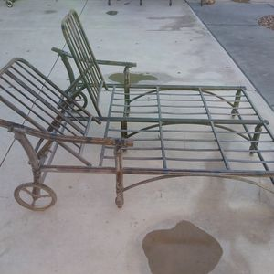 Patio Metal Double Lounge Chair And Sofa Set for Sale in El Mirage, AZ