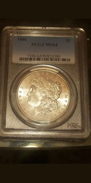 OLD US COINS BU UNC UNCIRCULATED 1886 PCGS MS64 P MINT SILVER MORGAN DOLLAR for Sale in Brooklyn, NY