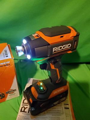 RIDGID OCTANE BRUSHLESS IMPACT DRIVER NEW (TOOL ONLY) for Sale in Beaumont, CA