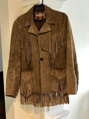 Pioneer Wear Brown Suede Leather Fringe Western SIZE 42 Jacket /coat for Sale in Cape Coral, FL