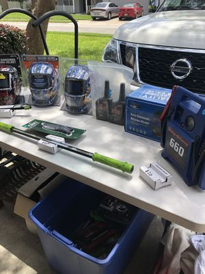 "Tool sale welder helmet led shop light 1/2"" air impact tool oil ECT for Sale in Lakeland, FL"