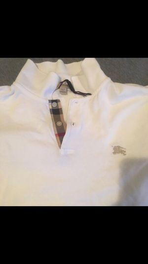 White Burberry Polo !! for Sale in Alexandria, VA