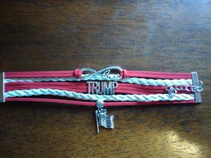 Red/White Rope Trump Bracelet for Sale in Hopewell Junction, NY