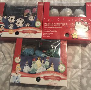 Disney Dancing lights, Micky,Princesses and Hello Kitty for Sale in Smyrna, GA