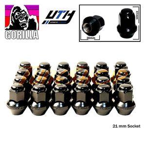 24 GORILLA LARGE SEAT OEM STOCK WHEELS LUG NUTS 14X1.5 BLACK for Sale in El Monte, CA