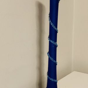 Royal Blue Tall Vase/ Candle Holder With Rhinestones. for Sale in Stamford, CT