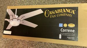 Ceiling Fan Casablanca Correne 56 inch brushed nickel ceiling fan with remote for Sale in Atlanta, GA