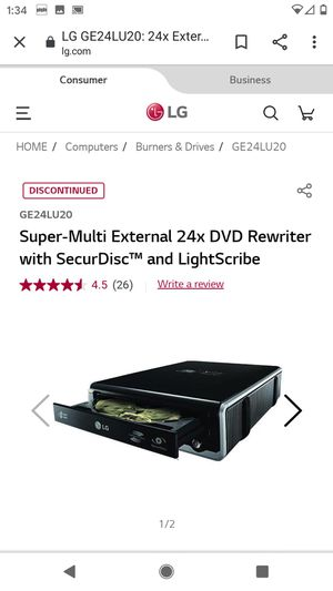 DVD rewriter burner USB and play DVDs for Sale in Lake Stevens, WA