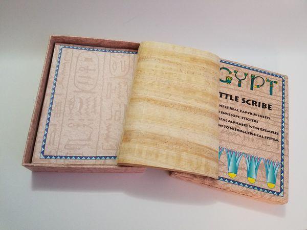 Egpty Heiroglyphic Papyrus Paper Set