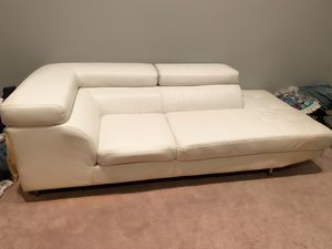 White leather couch for Sale in Terrell, TX