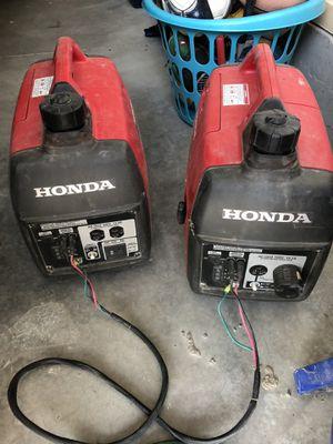 EU Honda SUPER quiet inverter/generators 2000 Watt each 4000watt paralleled . for Sale in Idaho Falls, ID