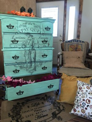 Shabby Boho Chic Antique Tall Boy for Sale in New Brighton, PA