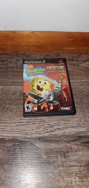 Playstation 2 SpongeBob SquarePants creature from the Krusty krab for Sale in Melrose Park, IL