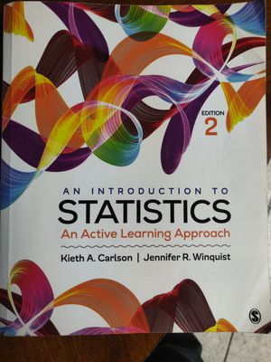 An Introduction to Statistics by Keith A. Carlson Edition 2 for Sale in Murrieta, CA