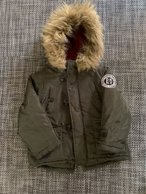 DKNY parka with faux fur trim for Sale in New Bedford, MA
