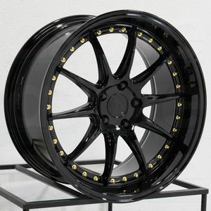 """18"""" new blk rims tires set for Sale in Hayward, CA"""
