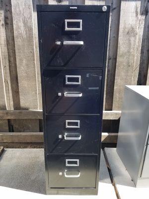 File Cabinet - 4 Drawer, Letter Size, Black Color for Sale in Martinez, CA