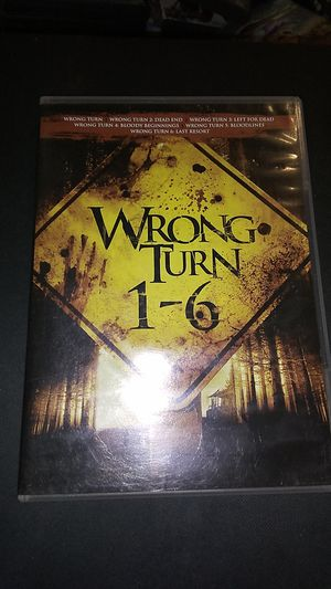 Wrong turn movies 1 through 6 DVDs for Sale in Sprouses Corner, VA