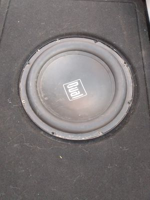 10 inch subwoofer in a different brand pro box for Sale in Lubbock, TX