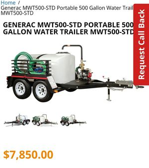 Magnum 500 gallon water utility trailer for Sale in Fort Worth, TX