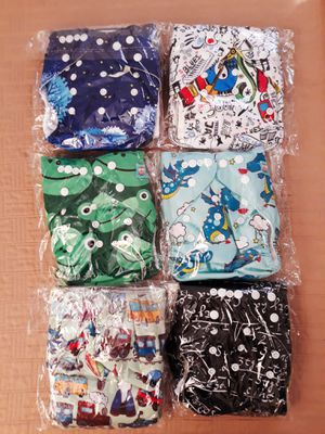 6 brand new alva baby pocket cloth diapers with inserts I'm in fontana message only when ready to pick up for Sale in Fontana, CA