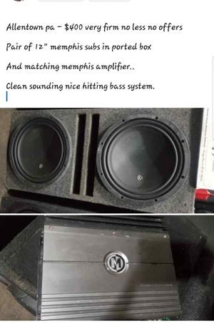 Memphis subs and amp for Sale in Allentown, PA